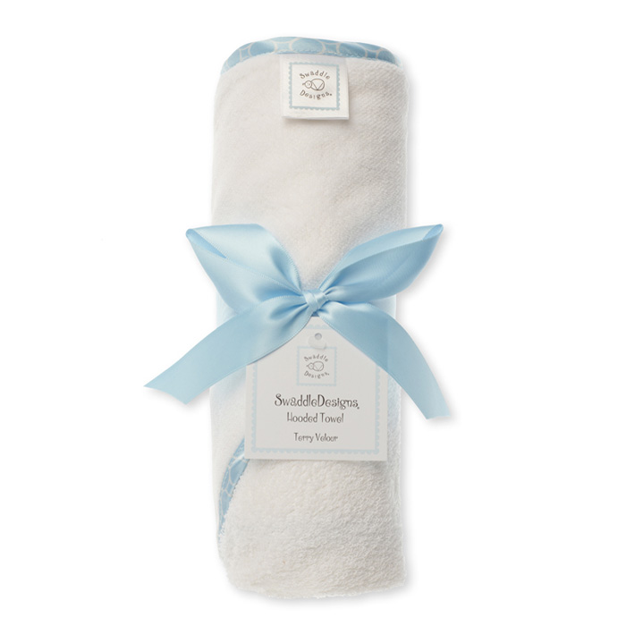 Полотенце с капюшоном Hooded Towel WH w/BL Mini Mod SwaddleDesigns